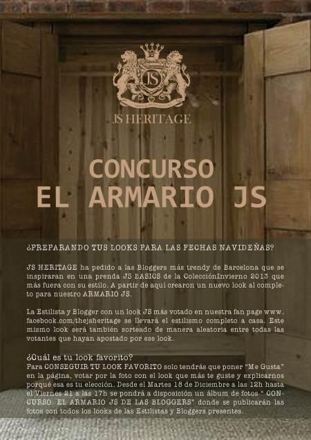 Flyer Concurso El armario JS HERITAGE